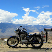 Motorcycle & The Mountains