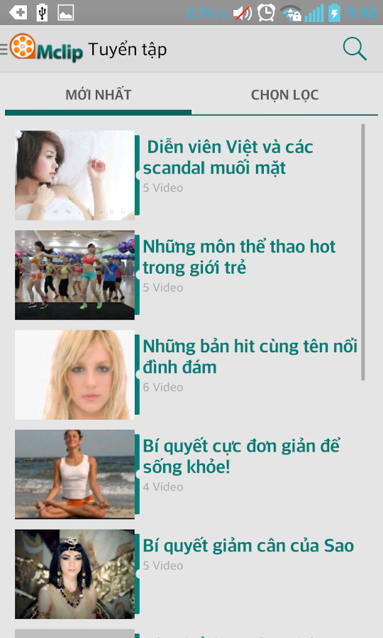 Mclip – Xem, tải Video- screenshot