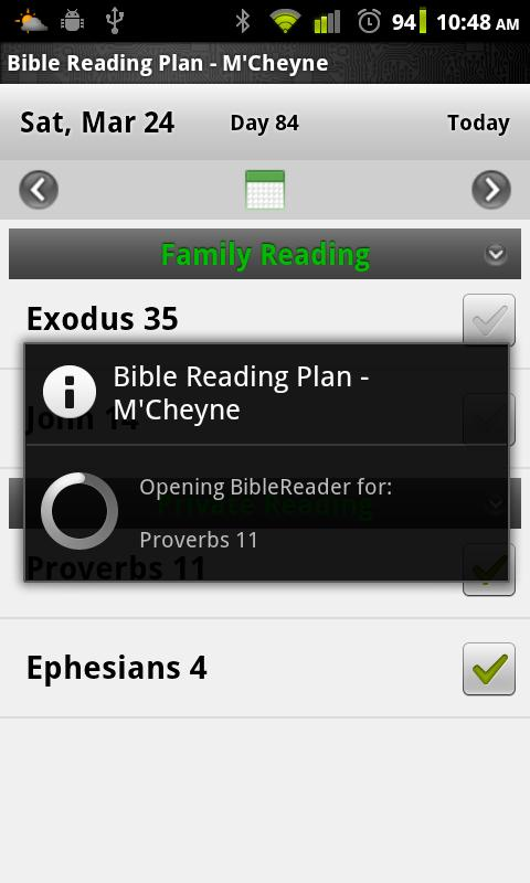 Bible Reading Plan - M'Cheyne - screenshot
