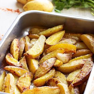 Garlic Parmesan Baked Potatoes.