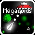 Megaroids (Asteroid game) logo