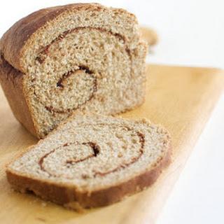 Whole Wheat Cinnamon Swirl Bread.