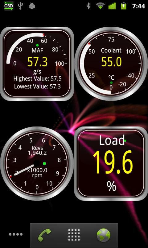 Widgets for Torque (OBD / Car) - screenshot