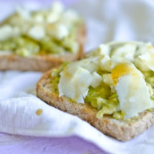 Avocado, Cheese, and Pears on Toast