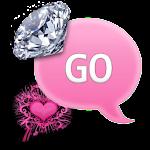 GO SMS - Heart Diamonds 5