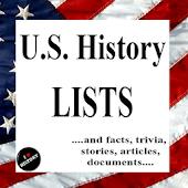 United States History Lists