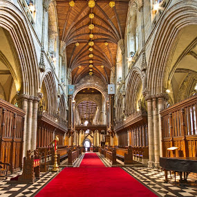 Here is a photograph from inside Selby Abbey. Located in Selby, Yorkshire, England, UK. by Michael D Beckwith - Buildings & Architecture Places of Worship