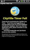 Screenshot of CItyVille Crop Timer Free