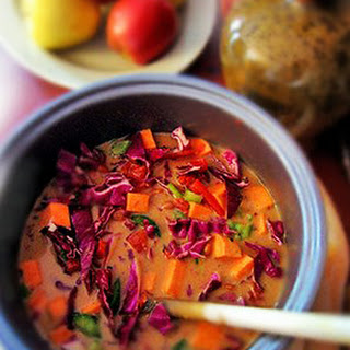 Purple Cabbage & Sunbutter Soup.