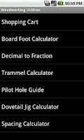 Screenshot of Woodworking Utilities