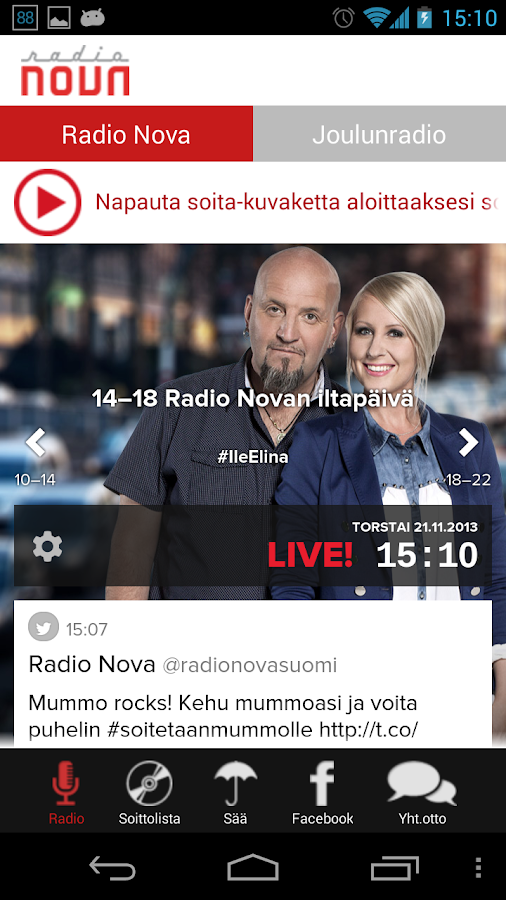 Radio Nova - screenshot