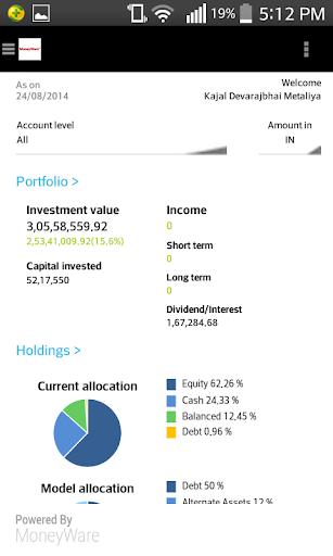 MoneyWare Integra Phone App