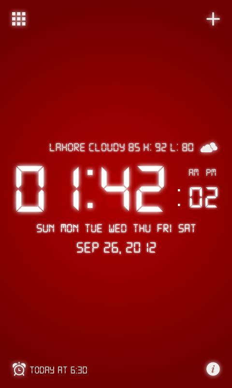 Digital Alarm Clock - screenshot