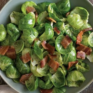 Brussels Sprout Leaves with Bacon