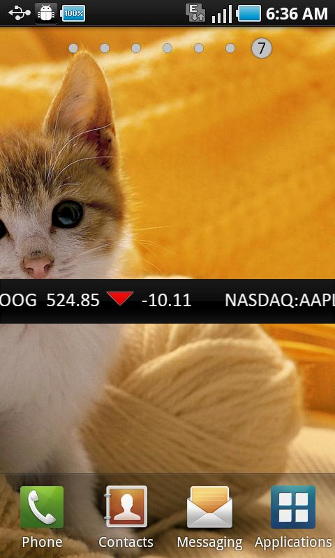 My Stock Ticker - screenshot