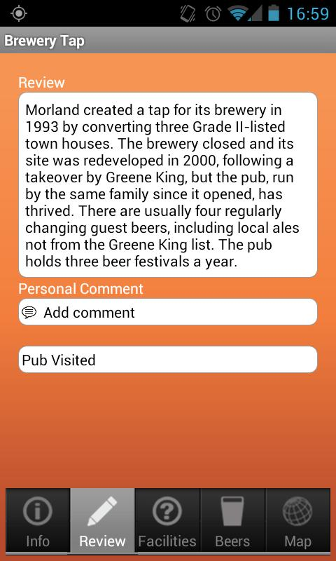 CAMRA Good Beer Guide - screenshot