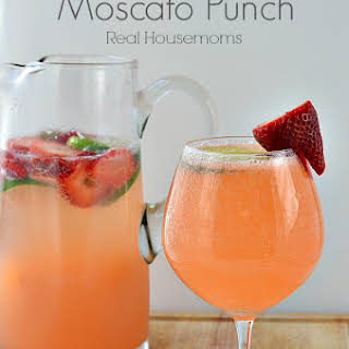 Strawberry & Lime Moscato Punch.