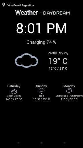 Weather DayDream Screensaver