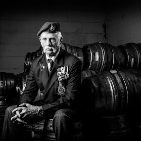 Old Soldier  by Martin Hill - People Portraits of Men ( old soldier, commando, royal marines )
