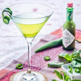 Spicy Vodka Greentini