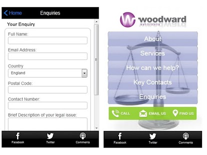 Woodward Solicitors- screenshot thumbnail