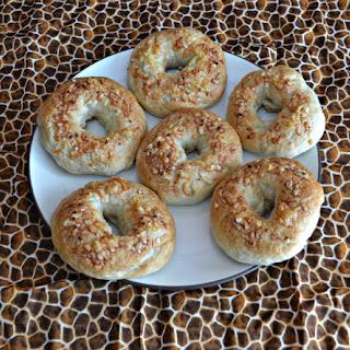 Quick Parmesan Garlic Bagels
