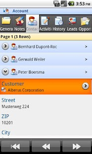 Mobile Client MS Dynamics CRM - screenshot thumbnail