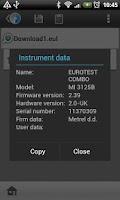 Screenshot of EuroLink Android