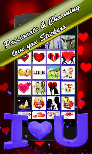 Love You Stickers for Chat