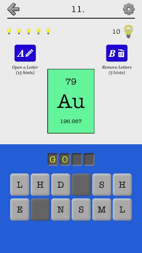Chemical Elements Names Quiz