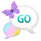 GO SMS - Pastel Glitter Sky