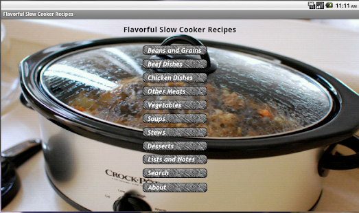 Flavorful Slow Cooker Recipes- screenshot thumbnail
