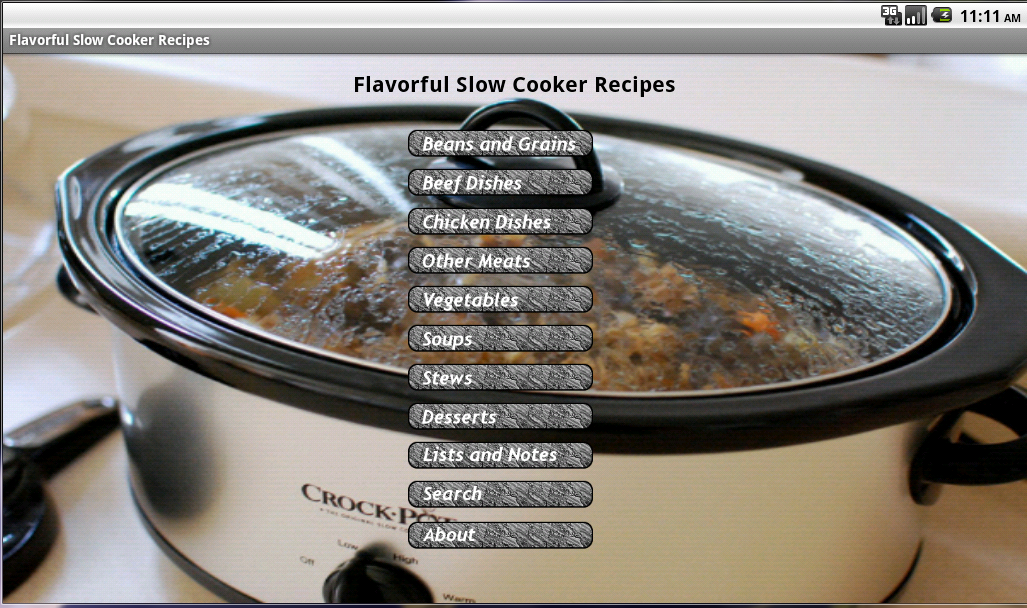 Flavorful Slow Cooker Recipes - screenshot
