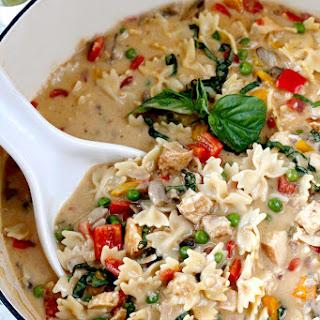 Creamy Cajun Chicken Pasta Soup