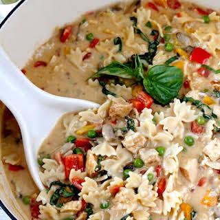 Creamy Cajun Chicken Pasta Soup.