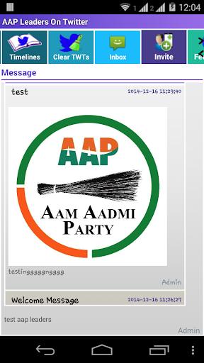 AAP Leaders On Twitter