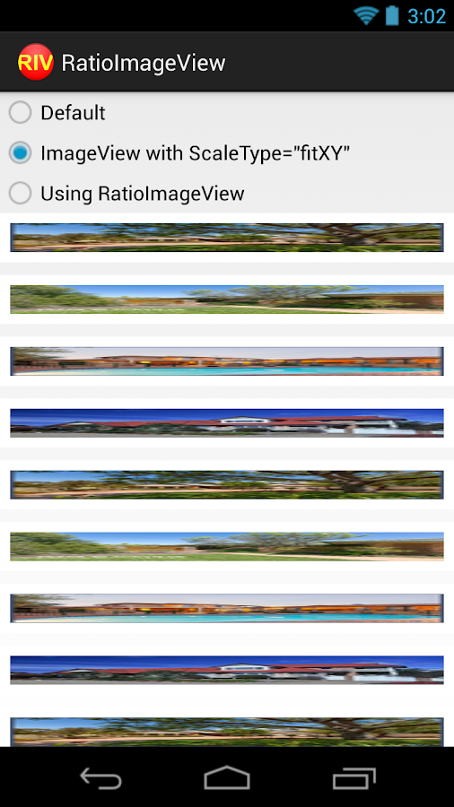 RatioImageView Demo- screenshot