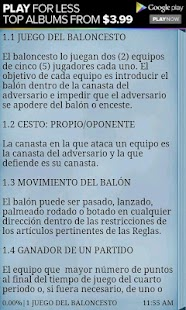 Reglas del Basquetbol - screenshot thumbnail