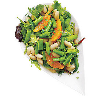 White and Green Bean Salad