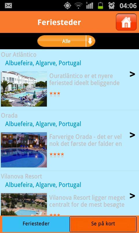 Bilferie - www.friferie.dk – screenshot