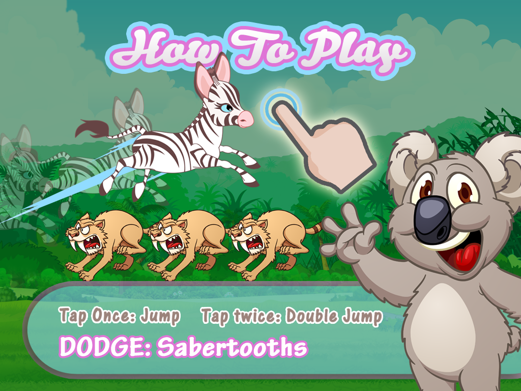 baby zebra dash running with little zoo friends fun for kids try it ...