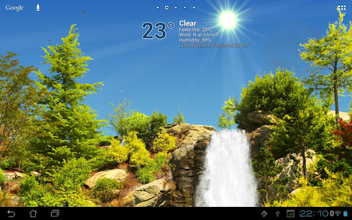 True Weather, Waterfalls FREE скачать на планшет Андроид