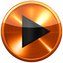Poweramp ORANGE METAL skin icon