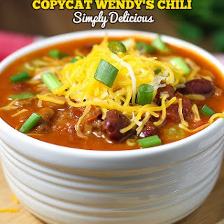 Wendy's Copycat Chili.