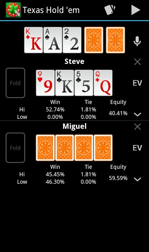 Free Poker Calculator - screenshot