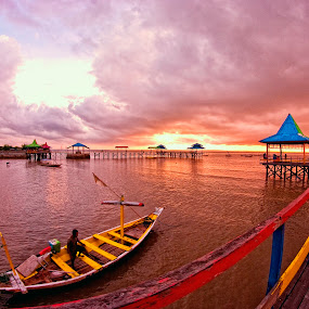 by Saiful N. Firmansyah - Landscapes Sunsets & Sunrises ( kenjeran, indonesia, kenji, east java, beach, sunrise, landscape, surabaya,  )