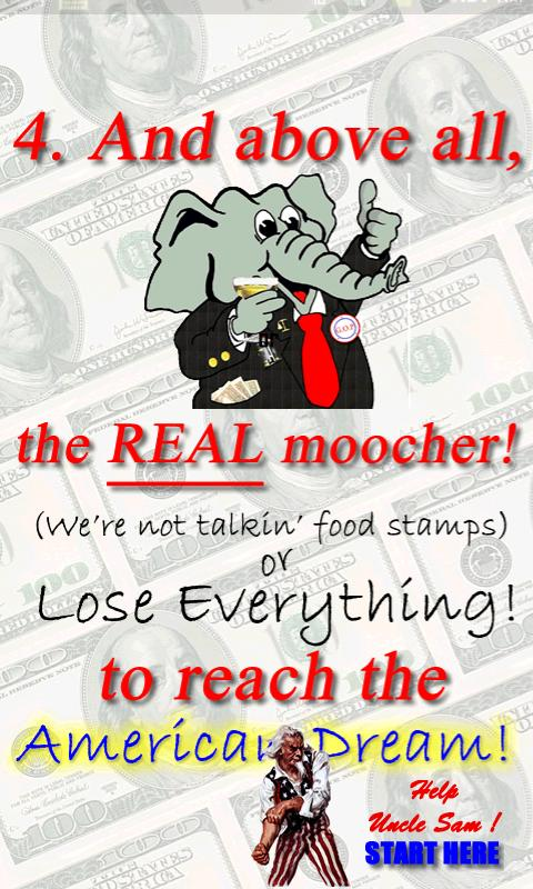 American Moocher Game- screenshot