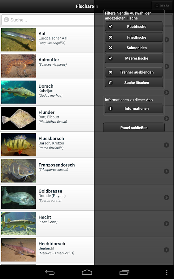 Fischbestimmung FishFinder 3.0- screenshot