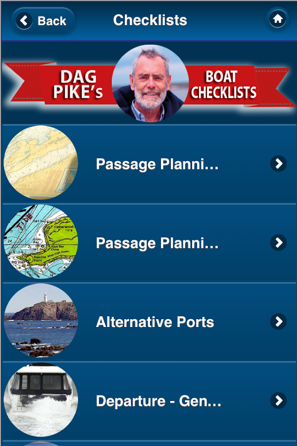 DAG PIKE'S BOATING CHECKLISTS- screenshot