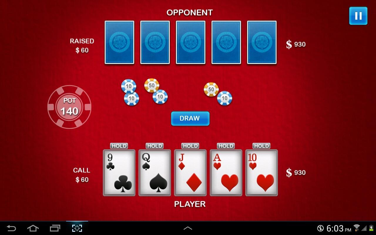 Five Card Draw- screenshot